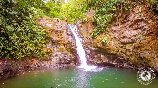Natural Waterslide at Uvita Waterfall in Costa Rica