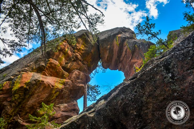 Royal Arch Trail Boulder Colorado - View of the Arch