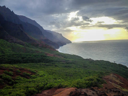Sunset In Na Pali Coast Kauai Hawaii