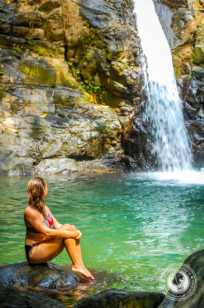 Swimming at Uvita Waterfall Costa Rica