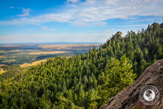 View from the summit of the Royal Arch Trail Boulder Colorado